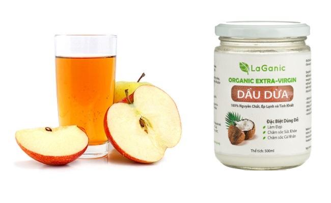 mặt nạ dầu dừa dấm táo cho da nhờn